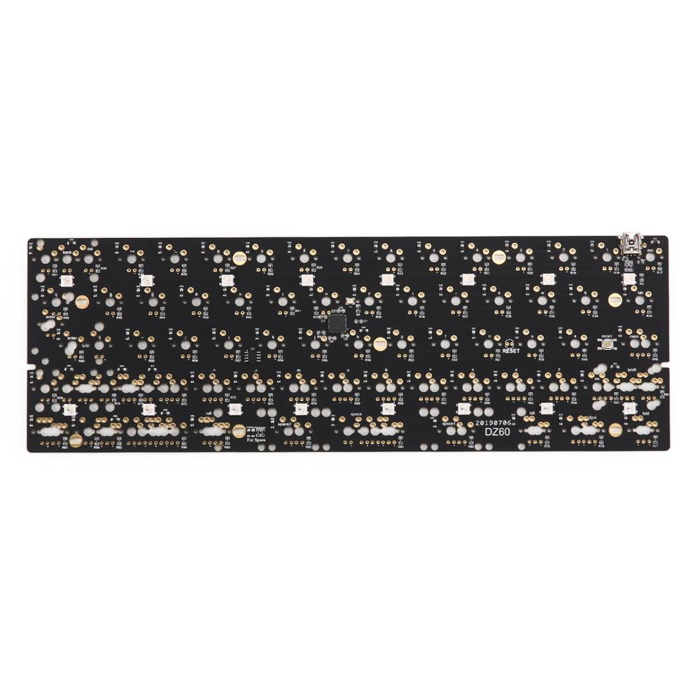 DZ60 Custom mechanical keyboard PCB 60% keyboard support arrow key alu plate gateron switch stab