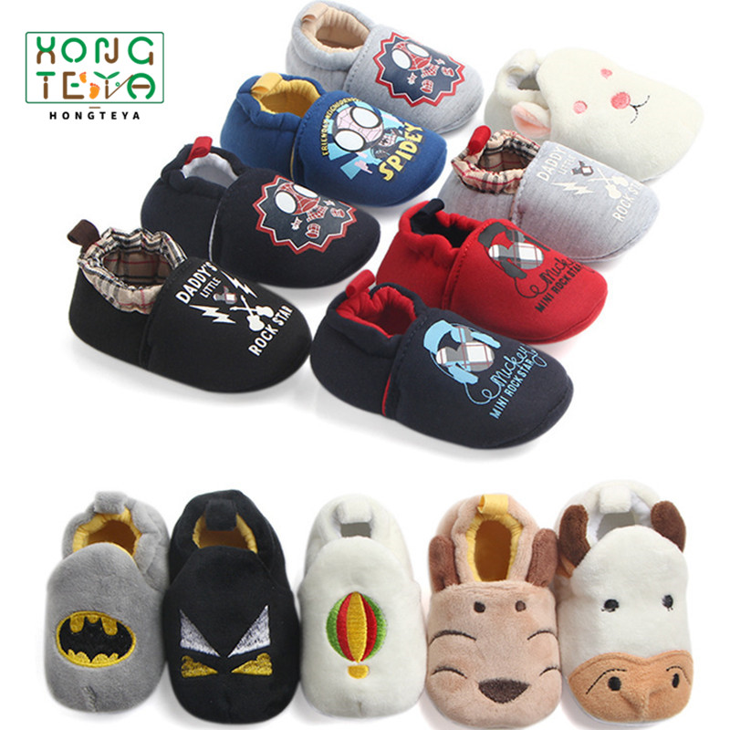 Children Cotton Shoes Kids Home Slippers Boys Girls Baby Cute Rabbit Ears Plush Thickening Warm Shoes Spiderman Baby Shoes