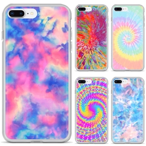 For iPhone 11 Pro 4 4S 5 5S SE 5C 6 6S 7 8 X 10 XR XS Plus Max For iPod Touch Free Silicone Phone Case Tie Dye Tumblr Background(China)