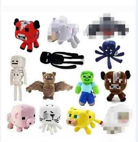 Плюшевые игрушки Крипер эндермен волк Стив зомби паук маска призрака горячие стили плюшевые мягкие игрушки для детей игрушки для малышей в подарок