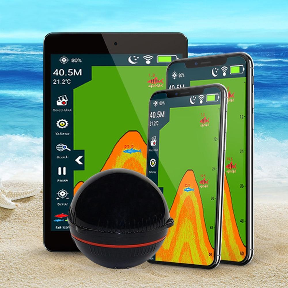 Drahtlose Fishfinder Fisch Finder Handy Bluetooth Smart Sonar Fisch Finder Gph Schule von Fisch Detektor