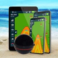 Kablosuz balık bulucu balık bulucu cep telefonu Bluetooth akıllı Sonar balık bulucu Gph okul balık dedektörü