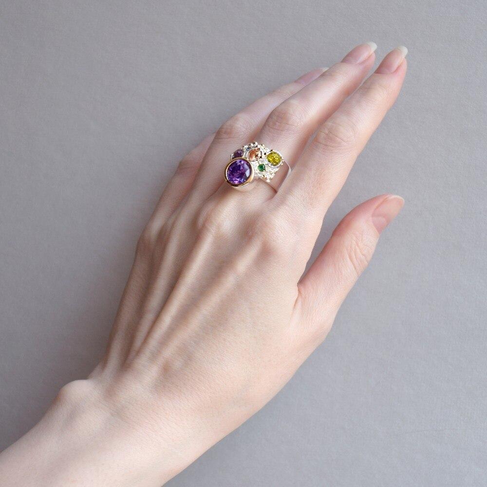 WA11704 DreamCarnival 1989 New Arrive Colorful Feminine Zircon Ring for Women Big Purple Stone Gothic Wedding Engagement Jewelry4