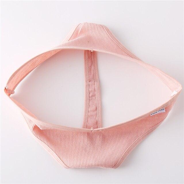 Cotton Thongs Women Sexy V Waist G-String Comfortable Striped Thong Panties Women T-back Underpants M-XL Female Bikini 5