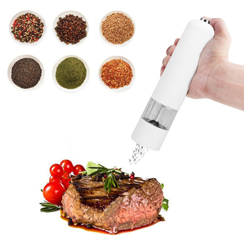 ABS Electric Automatic Mill Pepper and Salt Grinder LED Light Peper Spice Grain Mills Porcelain Grinding Core Mill Kitchen Tools image