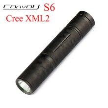 Convoy S6 Cree XML2 T6 U2 LED Flashlight EDC Linterna LED S2+ Plus Lanterna 18650 Flashlight Mini Torch Camping Lamp Work Light 10pcs dc3 7v 5 modes led flashlight driver for cree xml t6 u2 xml2 10w led light lamp torch