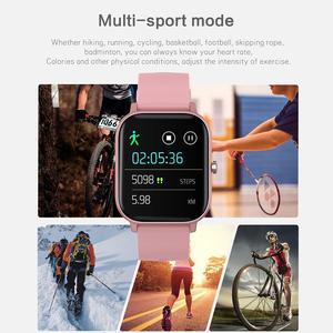 Image 4 - ساعة P8 pro متصلة ، شاشة تعمل باللمس 1.4 بوصة عالية الدقة ، درجة حرارة الجسم ، وضع رياضي متعدد ، جهاز تعقب للياقة البدنية P8T
