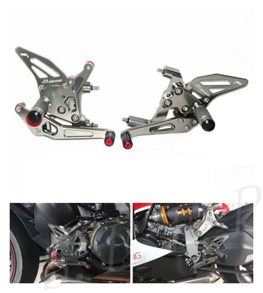 Rearsets Footpegs Footrests For DUCATI 899 1199 Panigale S R New CNC Superbike