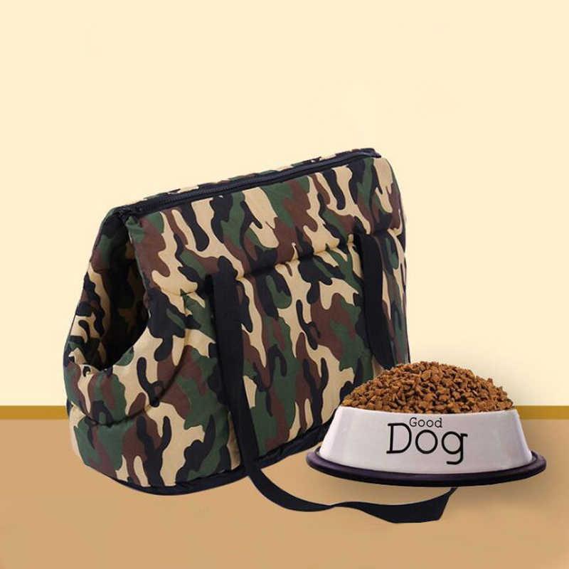 Camouflage Pet Carrier Voor Kleine Honden Gezellige Zachte Puppy Kat Hond Zakken Rugzak Outdoor Reizen Huisdier Sling Bag Chihuahua Pug