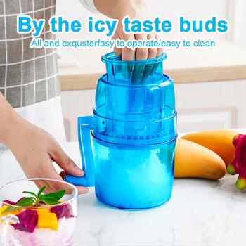 Kruszarka do lodu kruszarka przenośna do użytku domowego Mini łatwa ręczna maszyna do kruszenia śniegu ręczna maszyna do lodu smażona maszyna do lodu gorąca sprzedaż 1L tanie i dobre opinie FGHGF 55 w 3 kg min Półautomatyczne As plastiku 1000 ml 15 5x15 5x24 cm Slushies 21 w Instrukcja Ice Shaver As shown Home office picnic