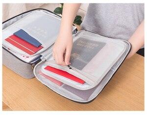 Image 3 - Dokument Ordner Ticket Tasche Große Kapazität Zertifikate Dateien Organizer für dokumente Home Reise Ordner für dokumente Lagerung