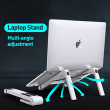 Lightweight Laptop Cooling Stand Plastic Vertical Laptop Stand Foldable Tablet Stand