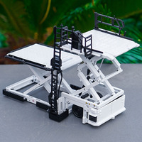 1:50 Diecast alloy airport preparation model Metal cargo lifting platform car toy Aircraft specific cargo vehicle design display