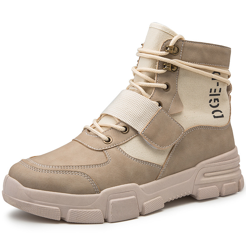 Martin boots men's winter breathable tooling boots tide shoes wild high-top shoes British wind short boots military boots