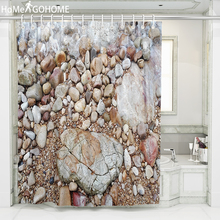 цена на Large Pebbles Shower Curtain Bathroom Waterproof Polyester Shower Curtain 3D Printing Curtains for Bathroom Shower 180x220 240cm