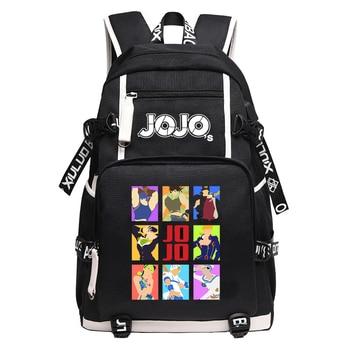 JoJo's Bizarre Adventure Kujo Jotaro Anime Bookbag Waterproof School Bags USB Charging Laptop Backpack Unisex Travel Bagpack