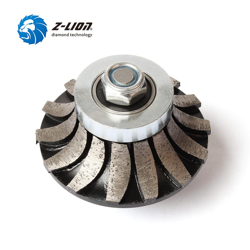 Z LION Diamond Profile Wheel A30 Segmented Router Bit 5/8 11 M14 Arbor Diamond Grinding Wheel For Granite Marble Countertop Edge-in Abrasive Tools from Tools    1