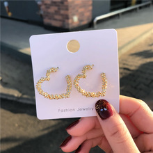 2020 Fashion Gold Color Metal Hollow Star Drop Earrings for Women Simple Big Geometric Dangle Earrings Statement Jewelry Gift amorcome chic hollow alloy leaves dangle earrings for women gold metal leaves geometric long big drop earrings fashion jewelry