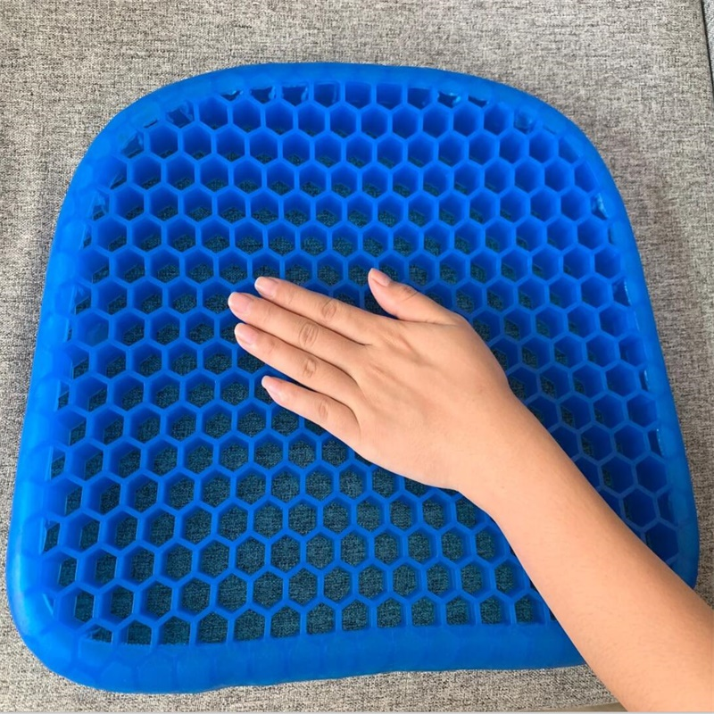 Egg Cushion Silicone Gel Seat Cushion Living Room Bedroom Honeycomb Design Chair Cushion Family Protection Cushion Dropshipping