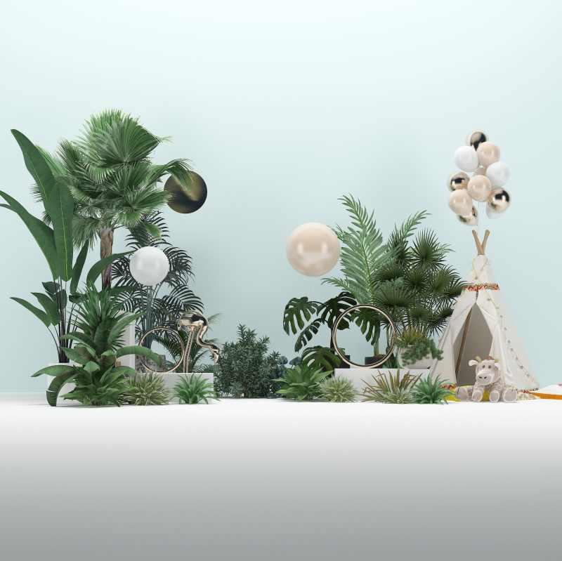 Laeacco 풍선 뜨거운 공기 풍선 화환 아기 신생아 파티 초상화 나무 바닥 사진 배경 사진 배경 Photocall