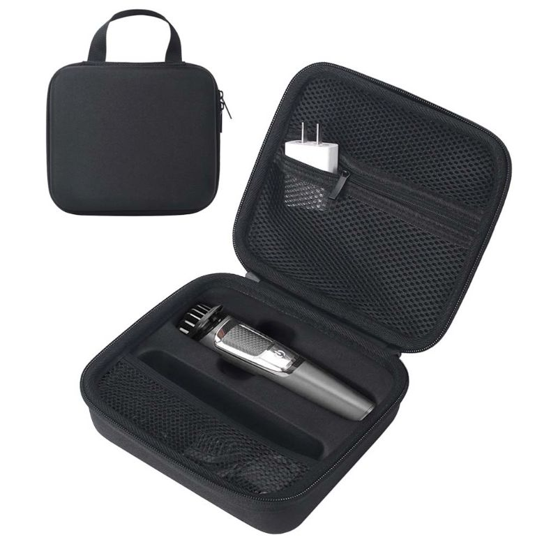 Carrying Case Zipper Pouch EVA Travel Bag for <font><b>Philips</b></font> Norelco Multigroom Series 3000/<font><b>5000</b></font> Electric <font><b>Shaver</b></font> image