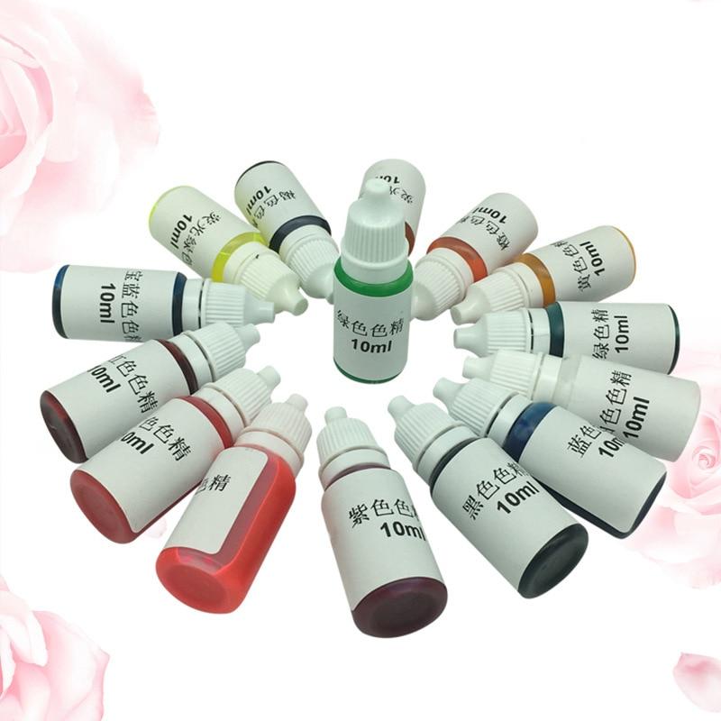 DIY Crystal Epoxy AB Glue Color Concentrate Color UV Glue 15 Color Epoxy Only Ash Tray Mould Epoxy