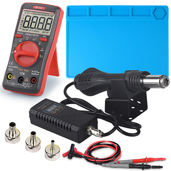 JCD Hot air gun 8858 Micro Rework soldering station LED Digital Hair dryer for 750W Heat Gun welding repair tools