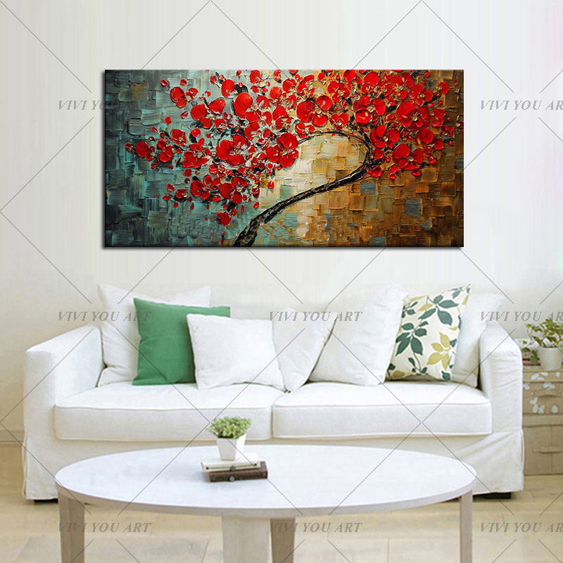 Free-shipping-Abstract-Red-Flower-Tree-Knife-Oil-Painting-On-Canvas-Beautiful-Picture-Wall-Art-Home (1)