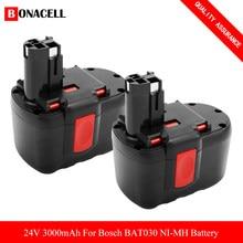 Никель-металлогидридный аккумулятор 24 в 3000 мАч для Bosch BAT030 BAT031 BAT240 BAT299 2 607 335 268,2 607 335 279, сменный аккумулятор, совместимый с