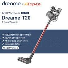 Ручной беспроводной пылесос Dreame T20, 25 кПа, Мощное всасывание, портативная щетка «Все в одном», пылесборник, напольный ковровый аспиратор