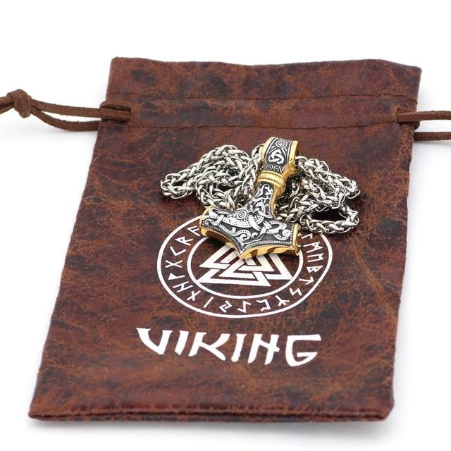 Collier Viking acier inoxydable Thor  6