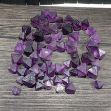 50g Natural Purple Fluorite Crystal Octahedrons Rock Specimen AAAA+++