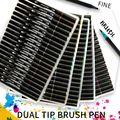Высококачественные 100 цветных художественных маркеров  Двойные наконечники  кисти  ручки для каллиграфии
