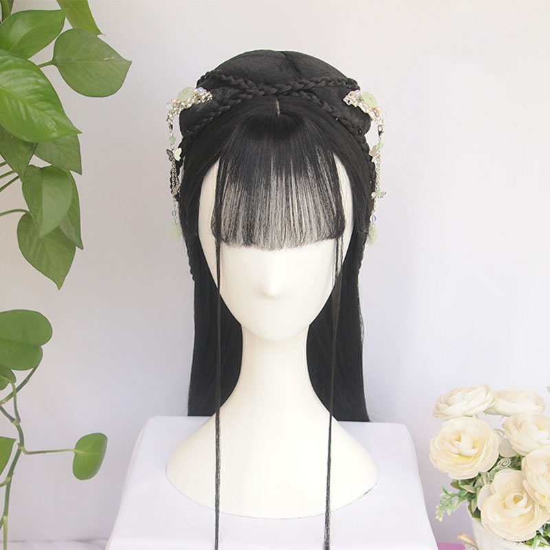 WEILAI vintage wig Chinese Ancient Style Wig Modelling wig Hanfu Braids Hair ornament The whole wig Custom product