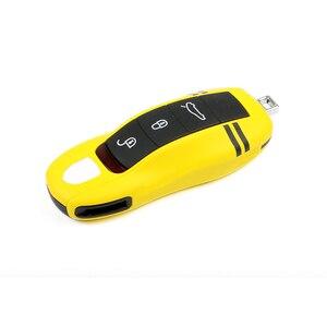 Image 5 - Abs um botão iniciar passivo keyless enter caso capa chave do carro para porsche macan cayenne panamera estilo de substituição acessórios