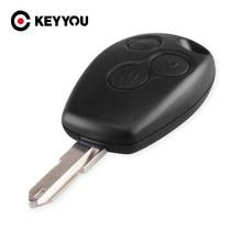 KEYYOU – coque de clé télécommande à 3 boutons F ou Renault, 3 boutons, livraison gratuite