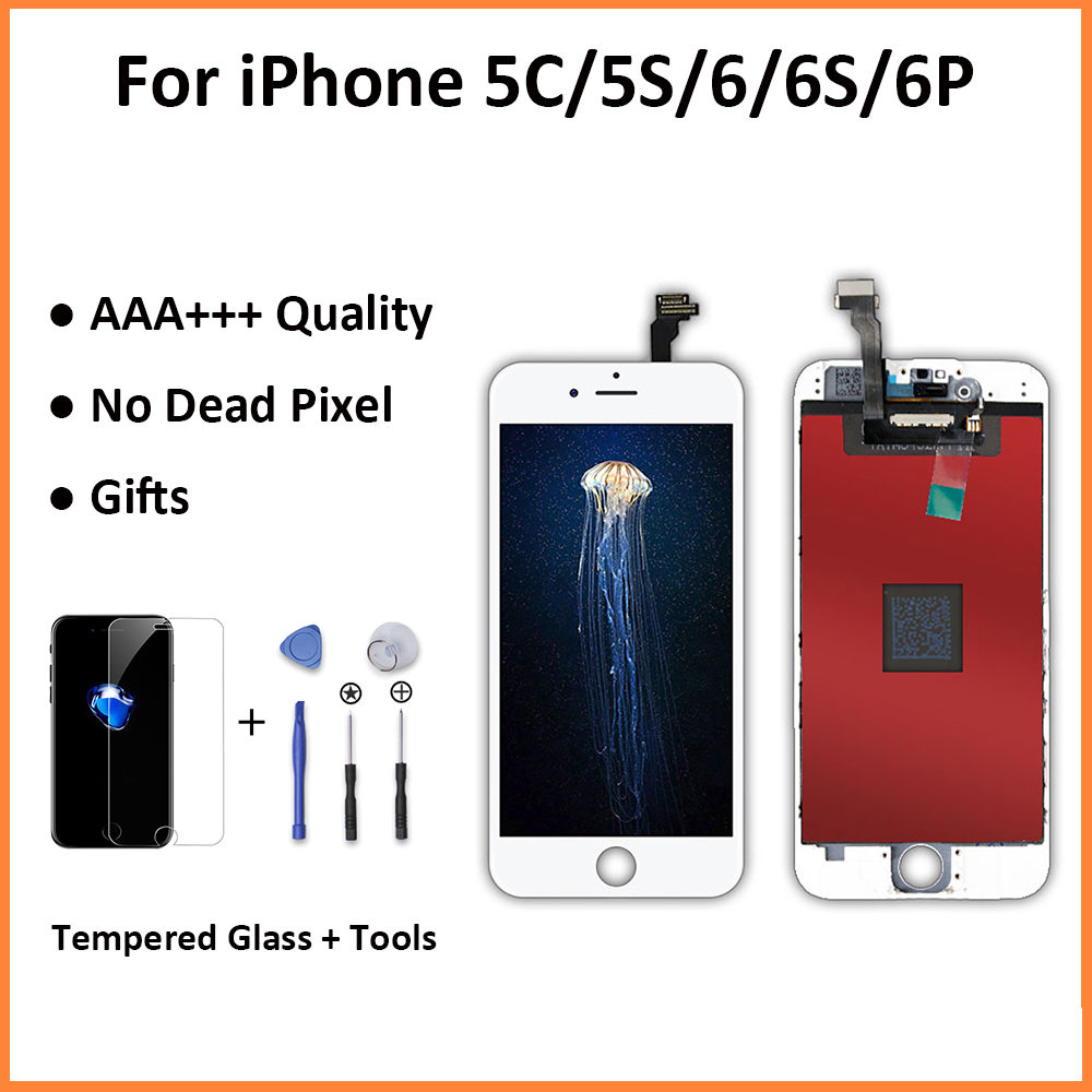 Pantalla LCD Display Replacement For iPhone 6 6s 6 Plus 3D Touch Screen Celular Digitizer Assembly Screen For Apple iPhone 5s se image