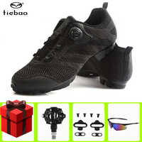 Tiebao chaussures de cyclisme Sapatilha Ciclismo vtt hommes baskets léger autobloquant bicicleta chaussure vtt vtt chaussures