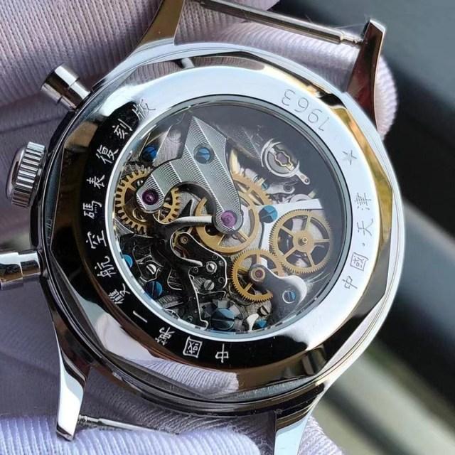 Fashion 38mm Men Chronograph Watches Sapphire Mechanical 1901 Seagull Movement Military Pilot Mens Chronograph Watch 1963 40mm 5