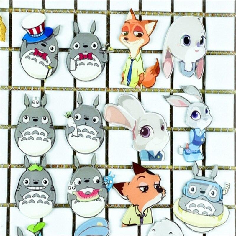 1PC Shirt Cute Crazy Animal Rabbit Fox Cartoon Brooch Acrylic Badge Pins Bag Packbag Decoration Brooch Broch