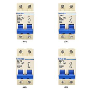 DZ47Z-63/2p 10a 16a 20a 25a fotovoltaico dc disjuntor proteção contra sobrecarga interruptor de ar proteção contra vazamento de circuito em miniatura