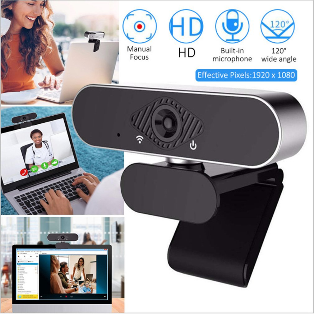 Câmera de computador de alta definição com microfone usb drive-livre plug and play câmera de chamada de vídeo-1