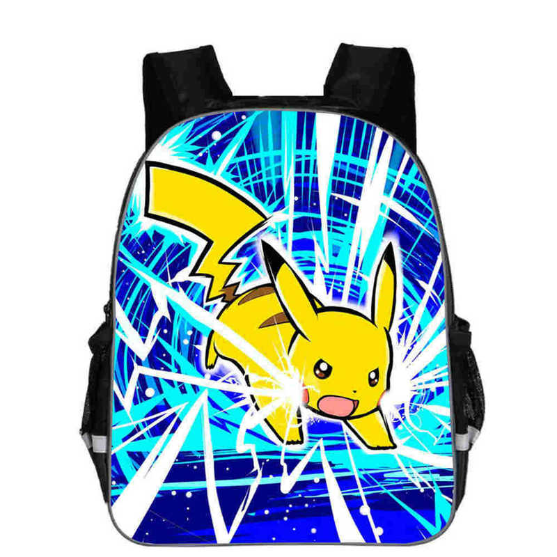 Cute Pokemon Printed School Backpacks Pikachu Schoolbag Preschool Backpack Kindergarten School Bag Pokemon Go Children Bagpack