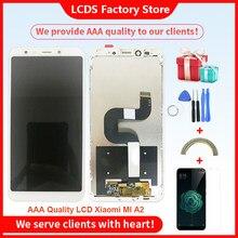 2160*1080 Aaa Kwaliteit Lcd Voor Xiaomi Mi A2 MIA2 Lcd Met Frame Scherm Vervanging Voor Xiaomi A2 lcd Assembly