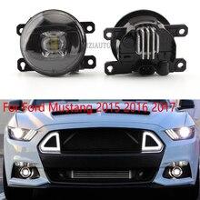 2Pcs ไฟ LED หมอกสำหรับ Ford Mustang 2015 2016 2017 LF10 S หมอก Foglamp Drl Daylight ไฟหน้าสำหรับรถยนต์อุปกรณ์เสริม