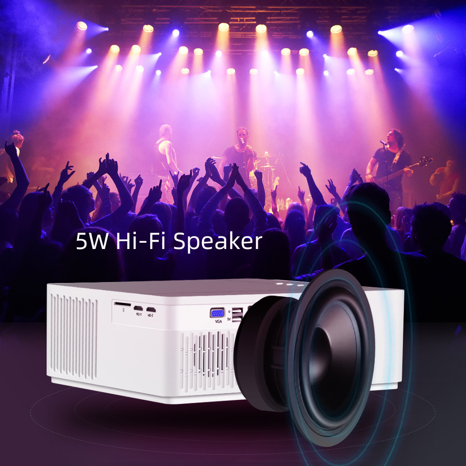 Projector-HD home theater projector for smartphone support  decoding AC3