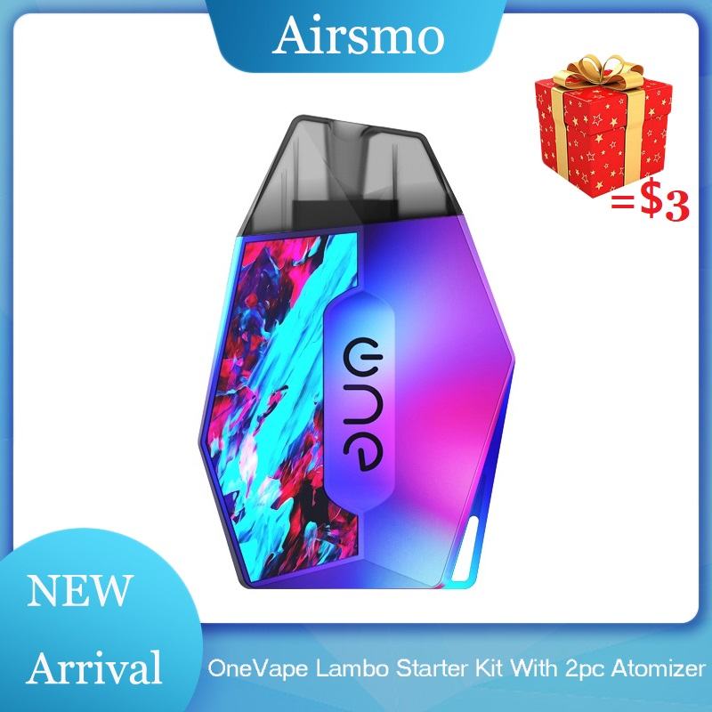 Lambo OneVape Stater Kit High quality Electronic Cigarette Pod System 2pcs 2ml Refillable Atomizer 360mAh Battery Vape Kit