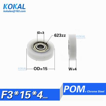 [F0314-4] 10 sztuk partia 623zz 623 POM z tworzywa sztucznego piłkę Koło łożyska płaskie typ średnica zewnętrzna 14mm 0 55 #8222 mikro koło pasowe 3X15X4mm 0315KK tanie i dobre opinie F0315-4