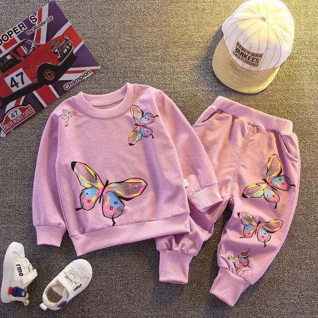 Демисезонная хлопковая одежда для маленьких девочек детская