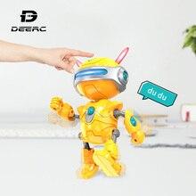 DEERC RC игрушечные роботы мини говорящий умный робот для детей обучающая игрушка для детей человекоподобный робот игрушка чувство Индуктивный RC